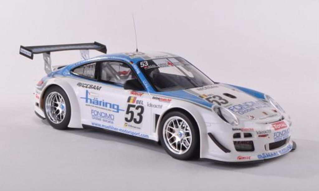 Porsche 997 GT3 1/18 Minichamps R No.53 Muhlner Motorsport 24h Spa 2010 /Haring diecast model cars