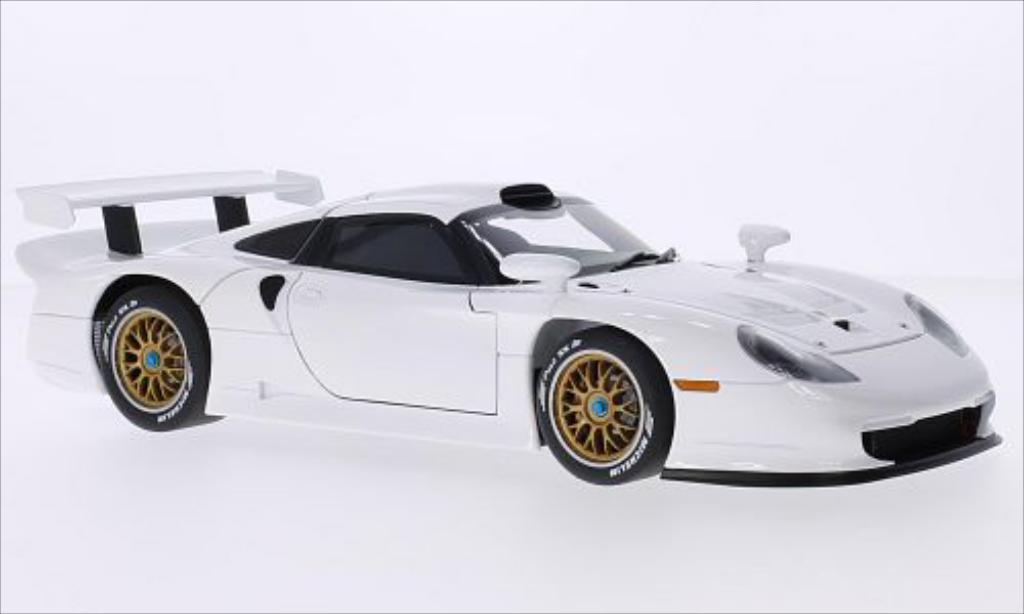 Porsche 993 1/18 Autoart GTI bianca 1997 miniatura
