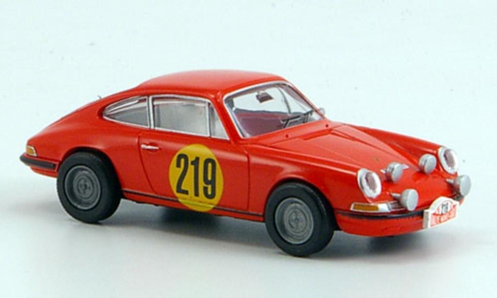 Porsche 911 1/87 Brekina No.219 Rallye Monte Carlo 1967 diecast