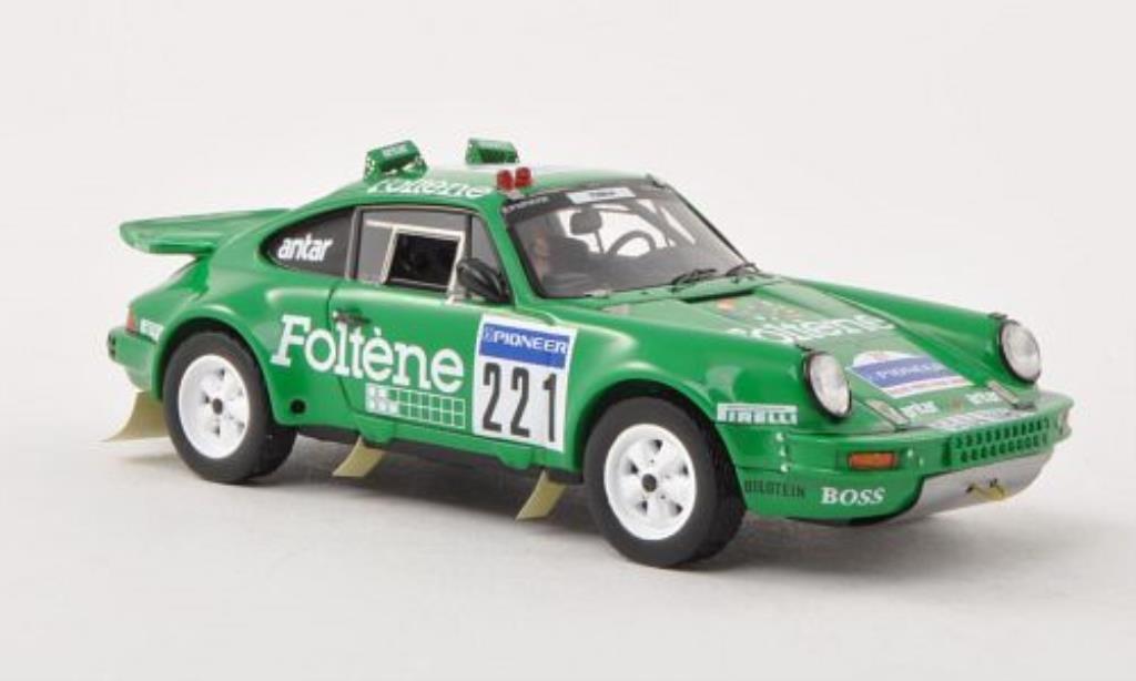 Porsche 930 1/43 Spark No.221 Foltene Racing Team Rally Dakar 1988 miniature