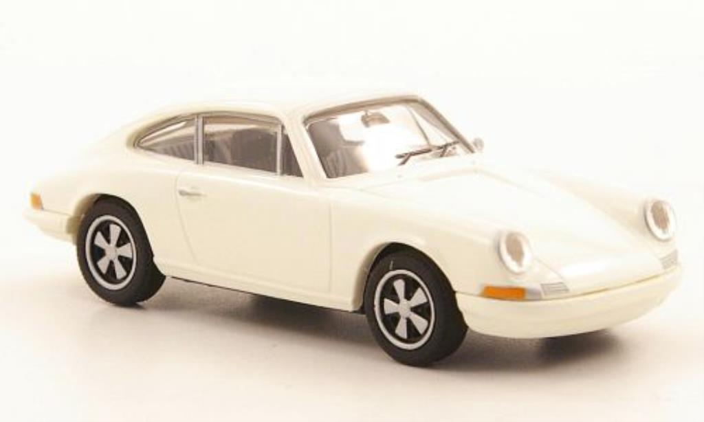 Porsche 911 R 1/87 Brekina Coupe white diecast model cars