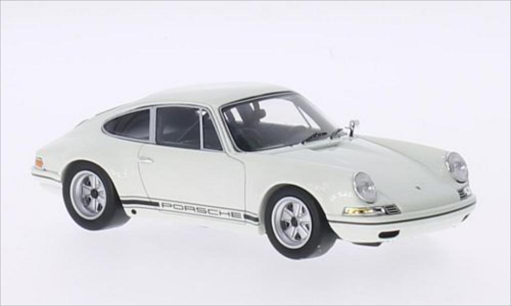 Porsche 911 R 1/43 Spark blanco/Dekor 1972 miniatura