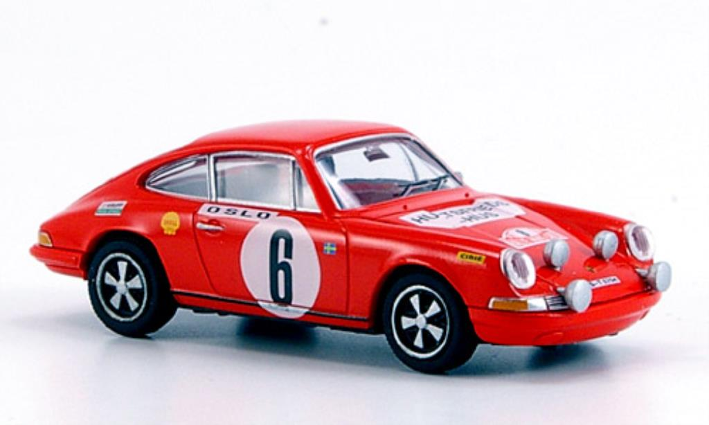 Porsche 911 1/87 Brekina rouge Sieger Rallye Monte Carlo 1970 miniature