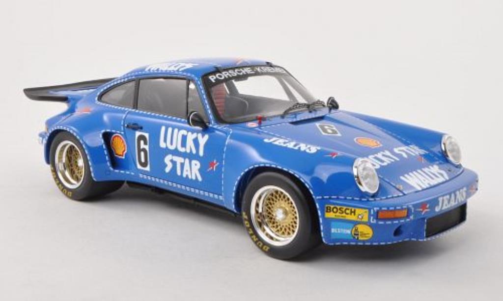 Porsche 930 RSR 1/18 Spark No.6 Wallys Jeans/Lucky Star Nurburgring 1974 miniature
