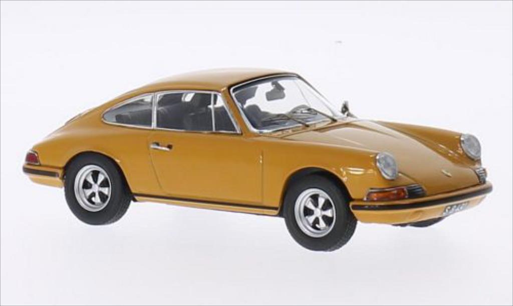 Porsche 911 S 1/43 Schuco Jochens Elfer yellow diecast model cars