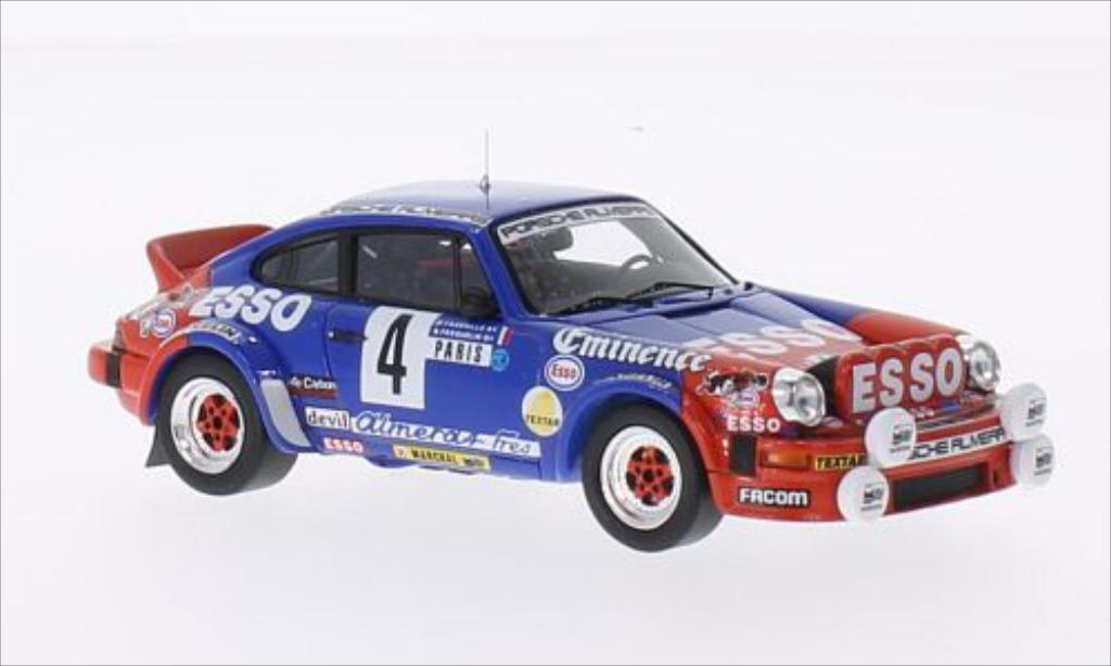 Porsche 930 SC 1/43 Spark No.4 Porsche Almeras Esso Rallye WM Rallye Monte-Carlo 1982 diecast