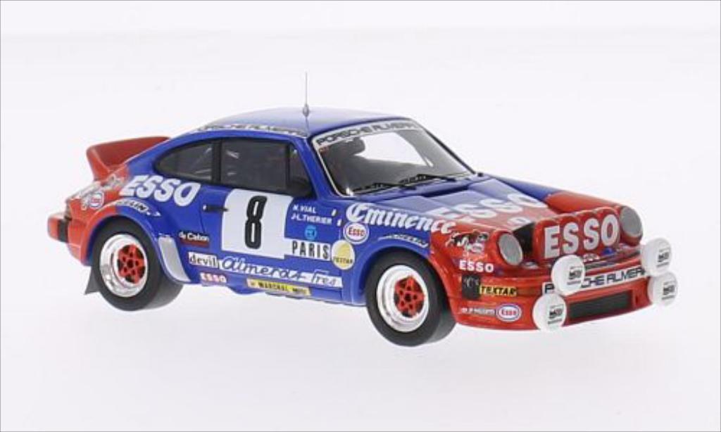 Porsche 930 SC 1/43 Spark No.8 Porsche Almeras Esso Rallye Monte-Carlo 1982 miniature