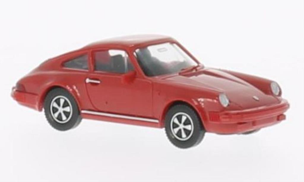 Porsche 911 SC 1/87 Wiking red diecast