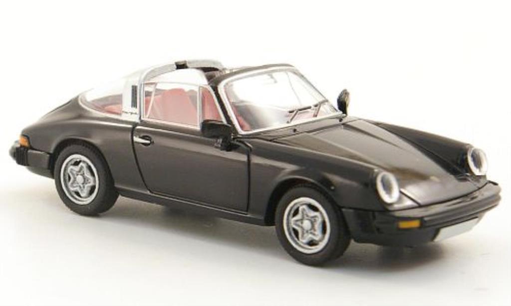 Porsche 911 Targa 1/87 Brekina (G-Reihe) black diecast model cars