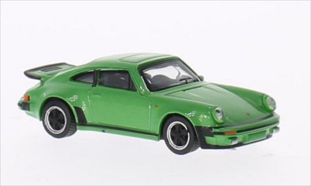 Porsche 911 Turbo 1/64 Schuco 3.0 metallic-verte miniature