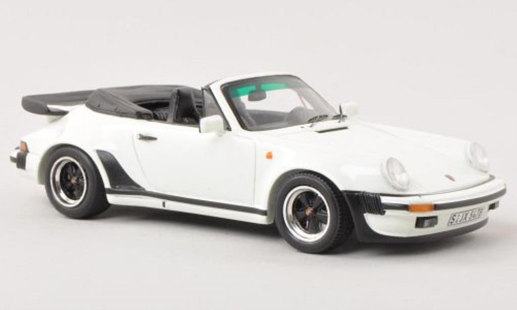 Porsche 930 Turbo 1/43 Spark 3.3 Cabriolet bianca 1989 miniatura
