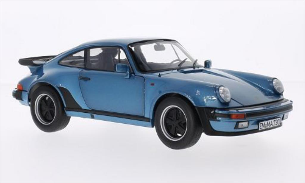 Porsche 930 Turbo 1/18 Norev 3.3 metallise bleu 1977 miniature