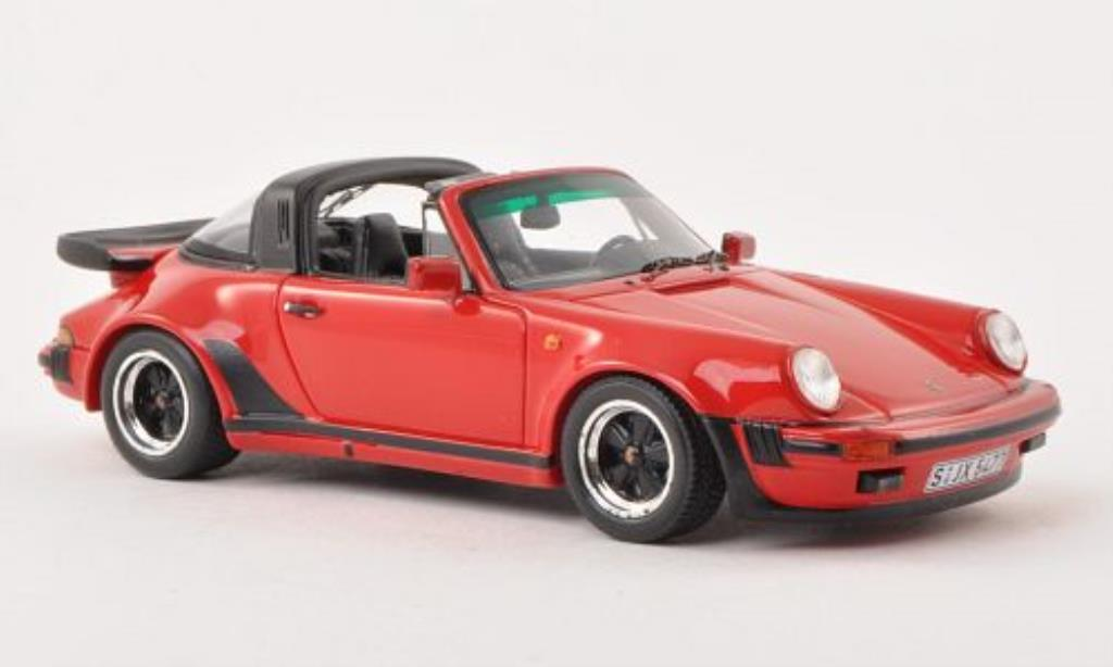 Porsche 930 Turbo 1/43 Spark 3.3 Targa rouge 1989 miniature