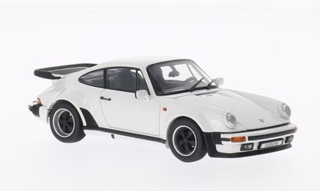Porsche 930 Turbo 1/43 Kyosho 3.3 blanche 1988 miniature