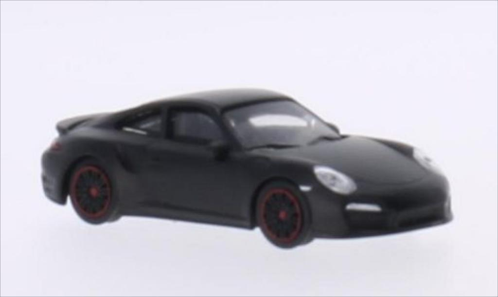 Porsche 991 Turbo 1/64 Schuco matt-black diecast model cars