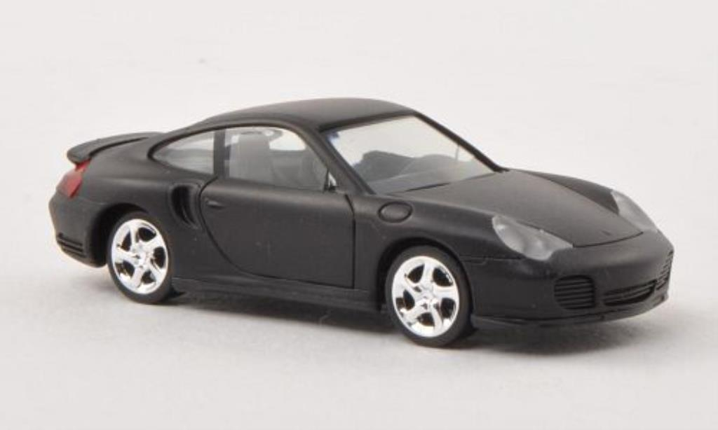 Porsche 996 Turbo 1/87 Herpa matt-black diecast