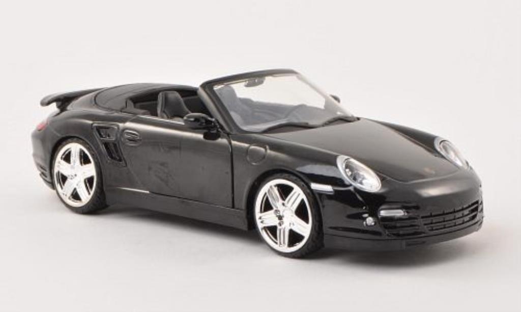 Porsche 997 Turbo 1/24 Motormax Cabriolet black diecast model cars