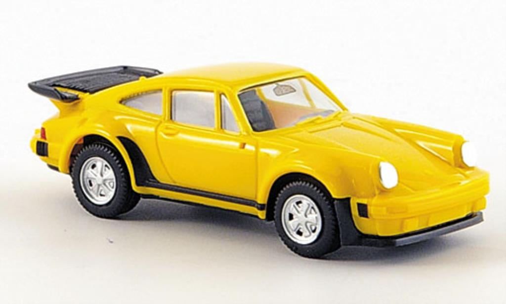 Porsche 911 Turbo 1/87 Herpa yellow diecast