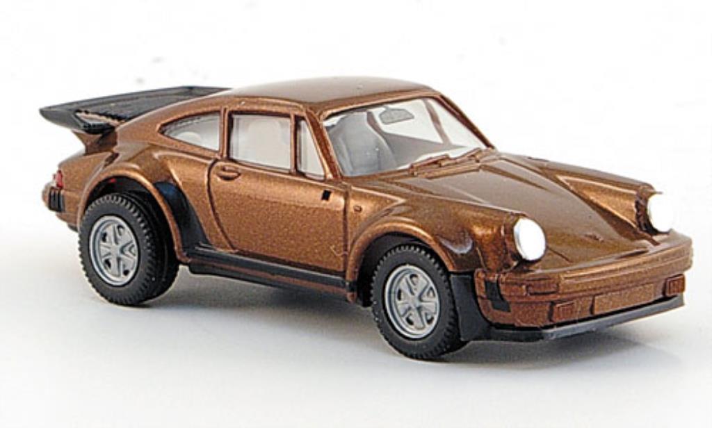 Porsche 911 Turbo 1/87 Herpa marron Spiegel liegen bei miniature
