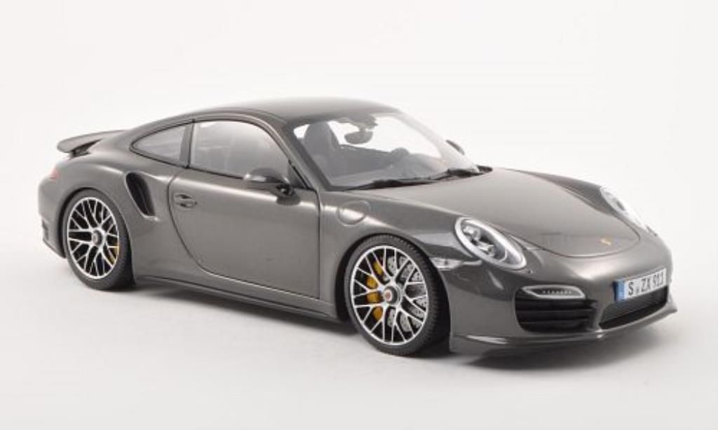 Porsche 991 Turbo S 1/18 Minichamps anthrazit 2013 diecast model cars