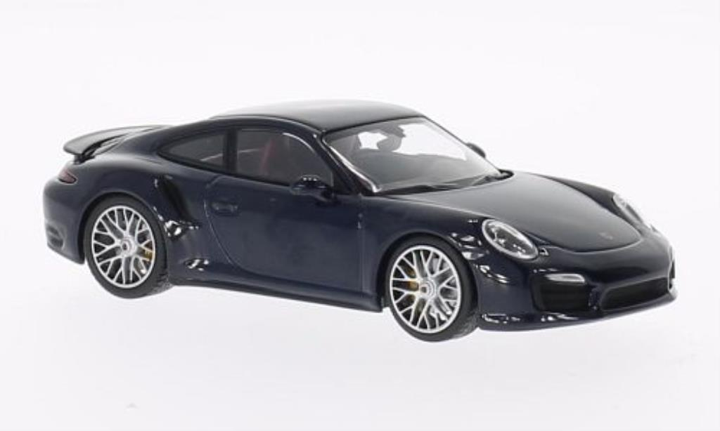 Porsche 991 Turbo S 1/43 Minichamps bleu 2013 diecast model cars