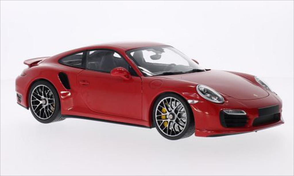 Porsche 991 Turbo S 1/18 Minichamps red 2013