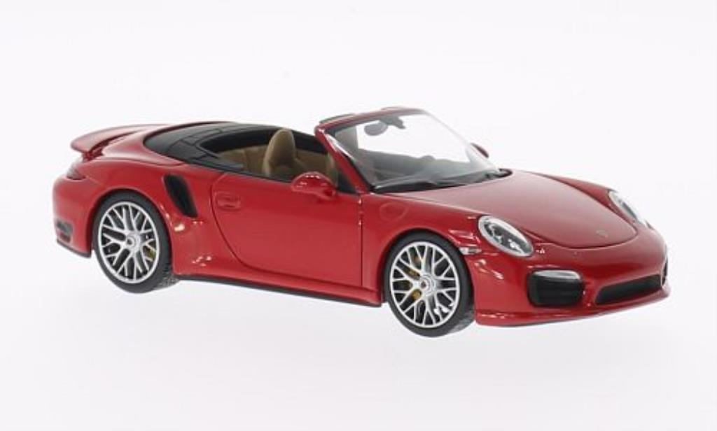 Porsche 991 Turbo S 1/43 Minichamps Cabriolet red 2013 diecast model cars