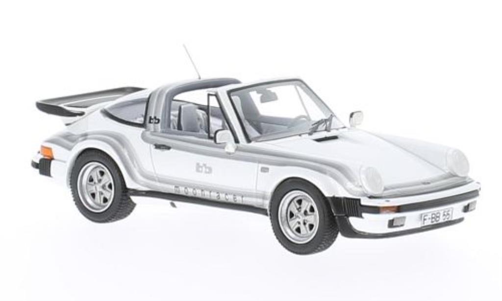 Porsche 930 Turbo 1/43 Neo Targa B&B Tuning Moonracer blanche mit Dekor 1982 miniature