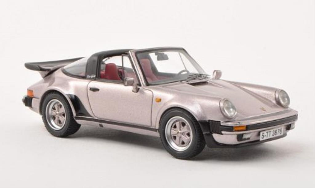 Porsche 930 Turbo 1/43 Neo Targa flieder-grise 1982 miniature