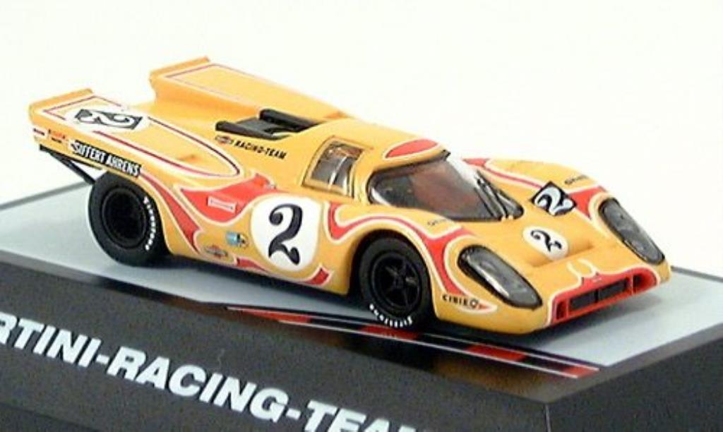 Porsche 917 K 1/87 Brekina Psycho jaune-rouge No. 2 miniature