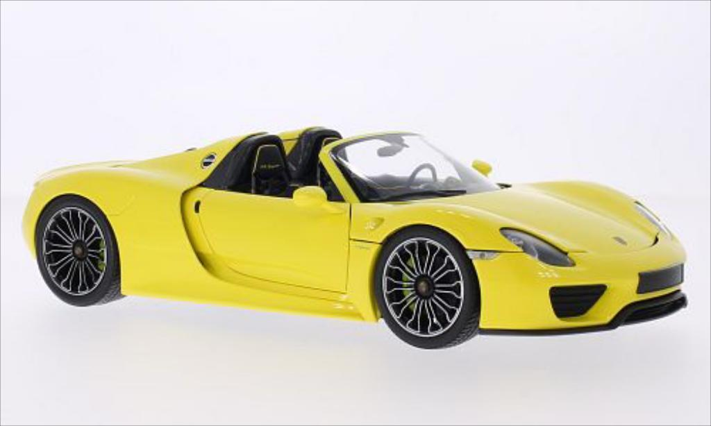 Porsche 918 1/18 Minichamps Spyder jaune 2013