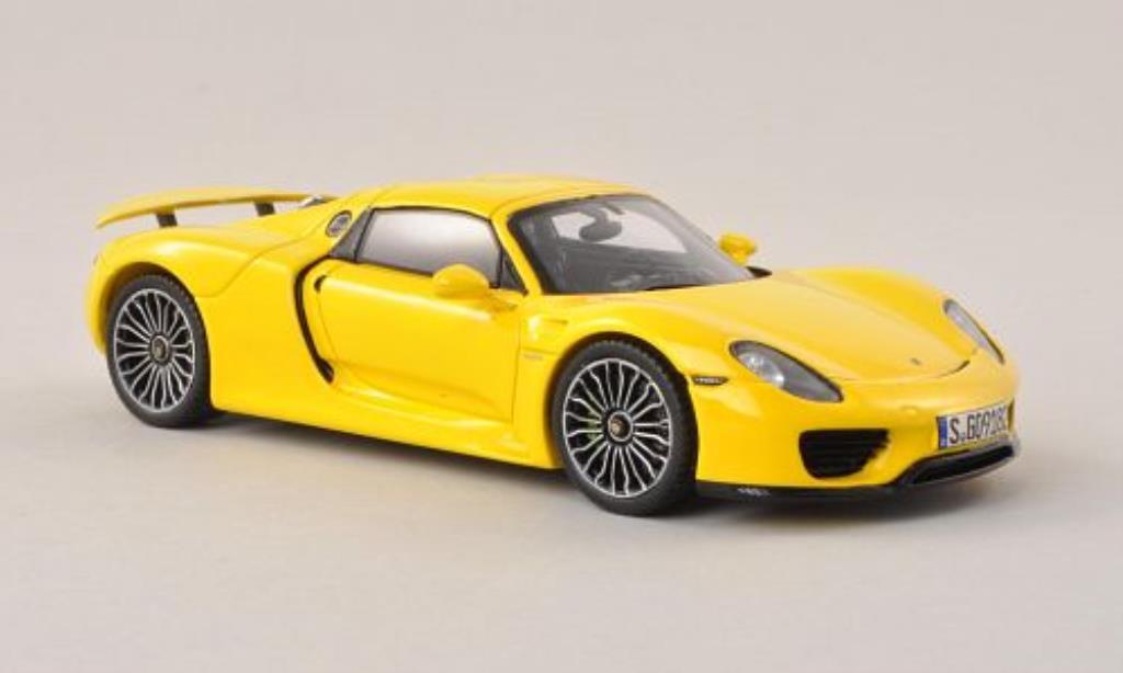 Porsche 918 1/43 Spark Spyder jaune 2013 miniature