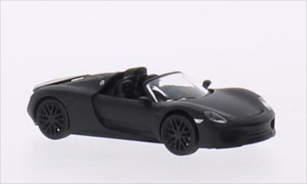 Porsche 918 1/87 Schuco Spyder matt-noire miniature