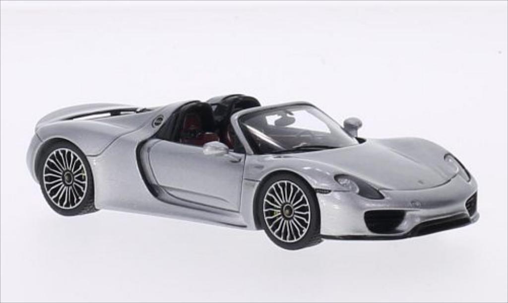 Porsche 918 1/43 Spark Spyder gray 2014 diecast