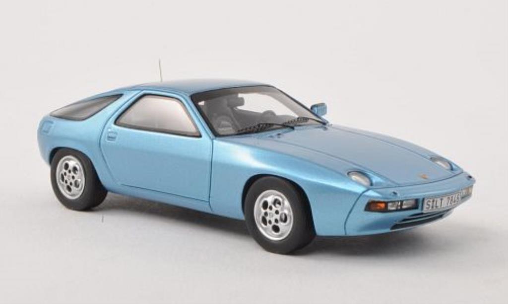 Porsche 928 1/43 Spark bleu 1977 diecast model cars