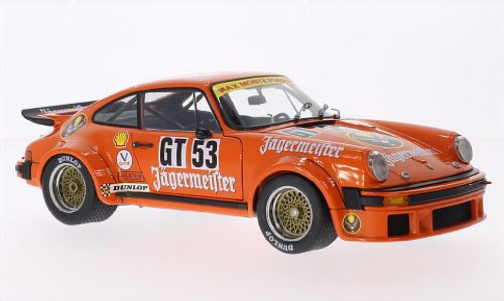 Porsche 934 1976 1/18 Schuco R No.53 Max Moritz Jagermeister 1000 Km Nurburgring miniature