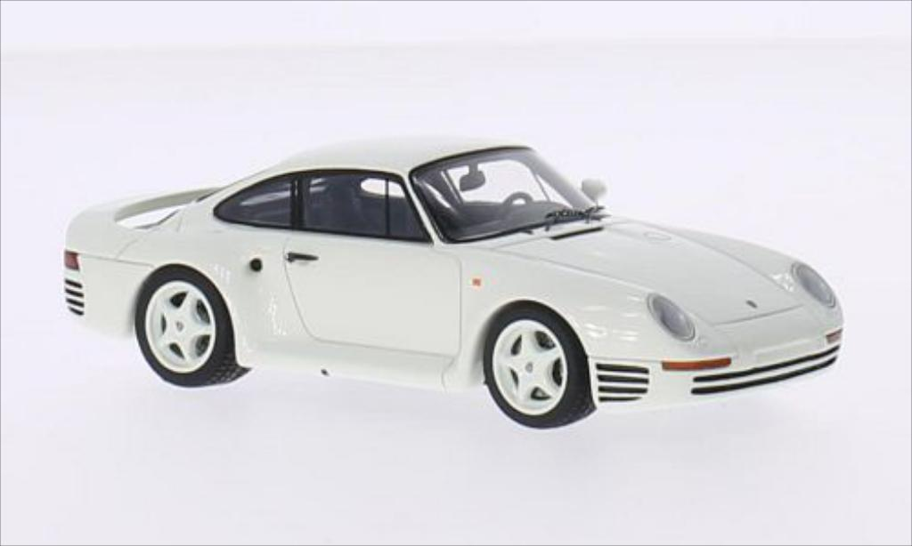 Porsche 959 1/43 Spark S white diecast model cars
