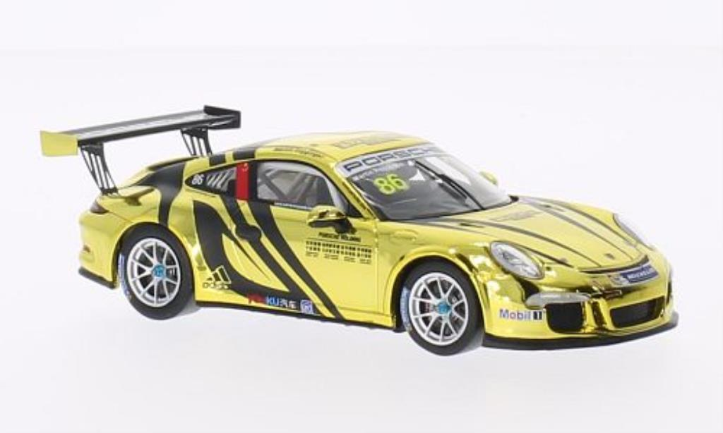 Porsche 991 GT3 1/43 Spark Cup No.86 PCCA 2014 diecast