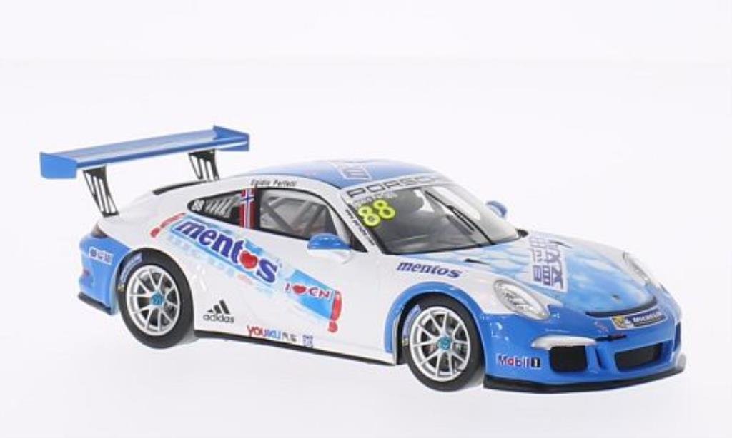 Porsche 991 GT3 1/43 Spark Cup No.88 Mentos PCCA 2014 diecast