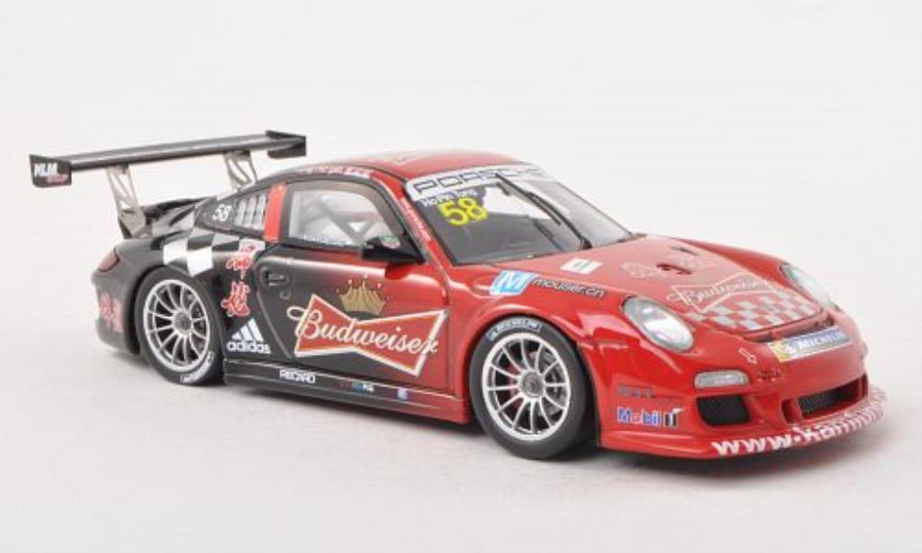 Porsche 997 GT3 CUP 1/43 Spark GT3 Cup No.58 Budweiser Carrera Cup Asia 2013 miniature