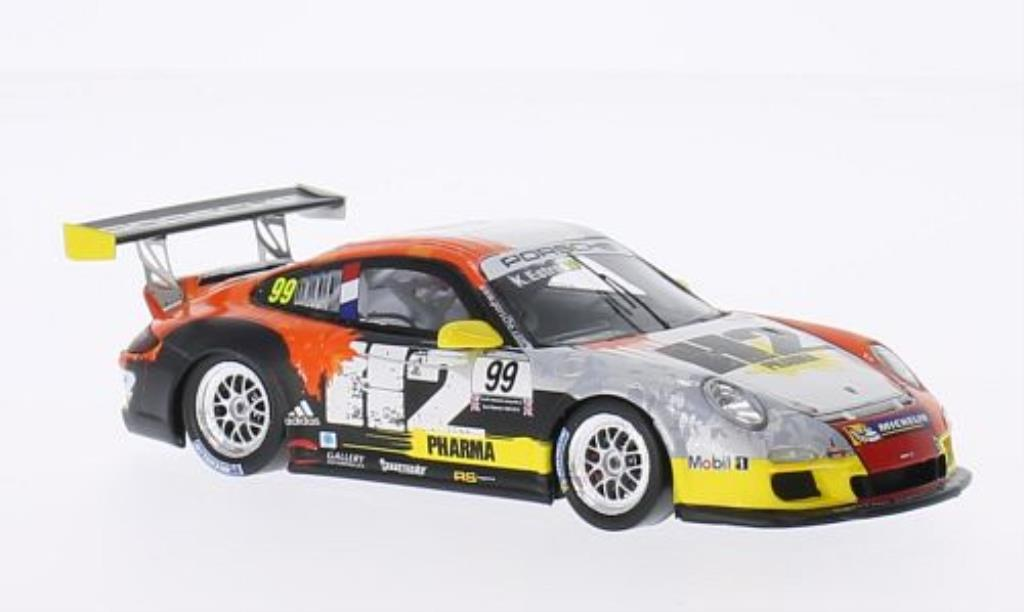 Porsche 997 GT3 1/43 Spark Cup No.99 H2 Pharma Carrera Cup Paul Ricard 2013 diecast