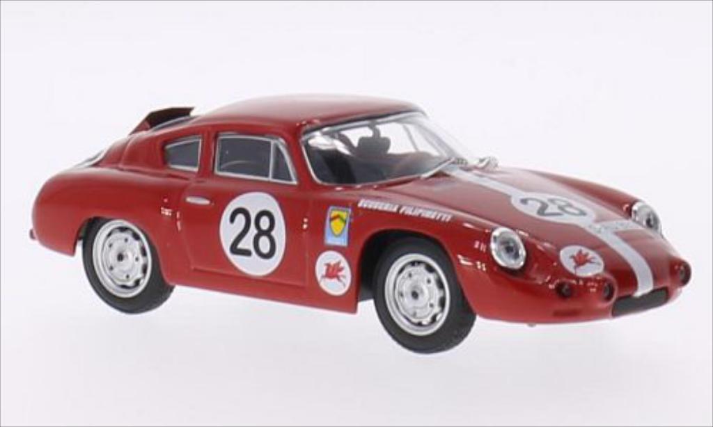 Porsche Abarth 1/43 Best No.28 Scuderia Filipinetti 1000 Km Nurburgring 1963 /F.Schiller coche miniatura