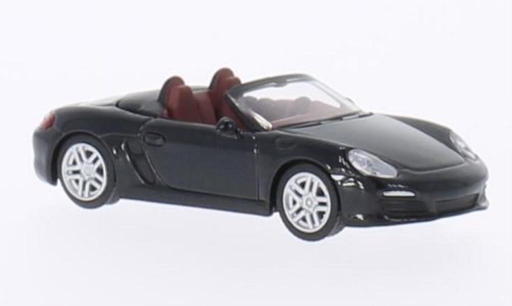 Porsche Boxster 1/64 Schuco S (981) noire miniature