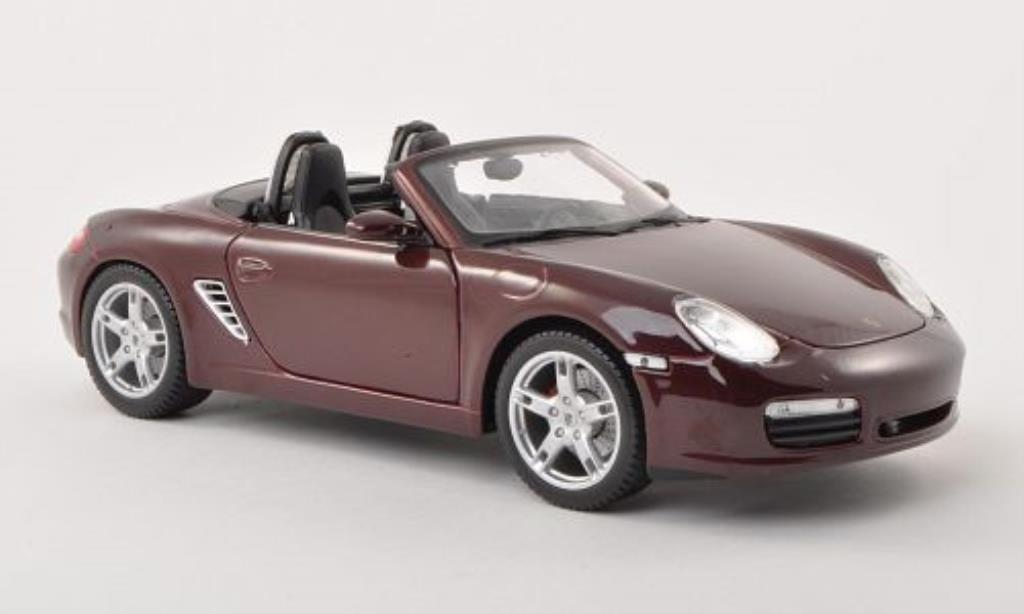 Porsche Boxster 1/18 Maisto S rouge 2005 miniature