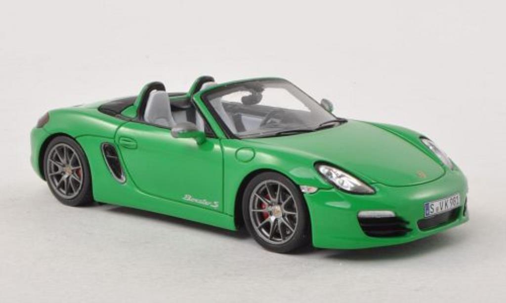 Porsche Boxster 1/43 Spark S Exclusive grun 2011 miniature