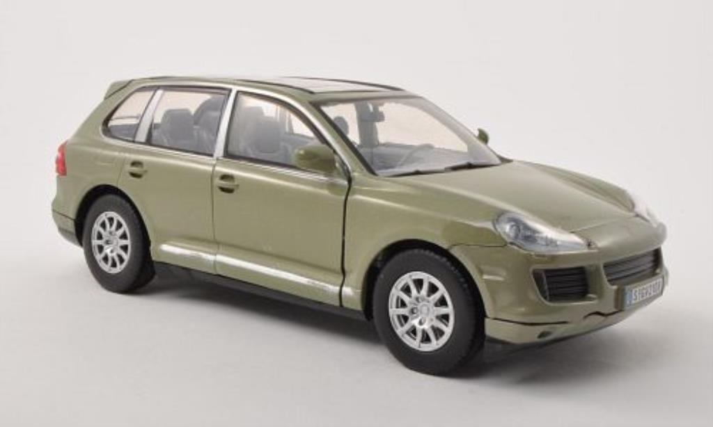 Porsche Cayenne 1/24 Motormax (9PA) grise-grun 2008 miniature