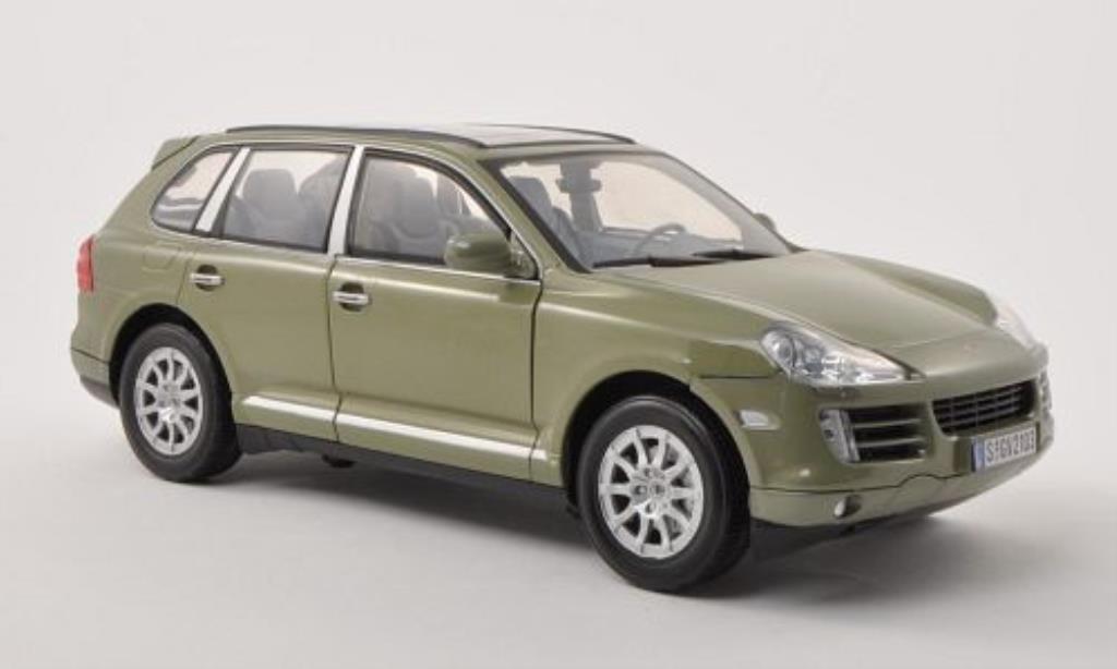 Porsche Cayenne 1/18 Motormax (9PA) grise-verte 2008 miniature