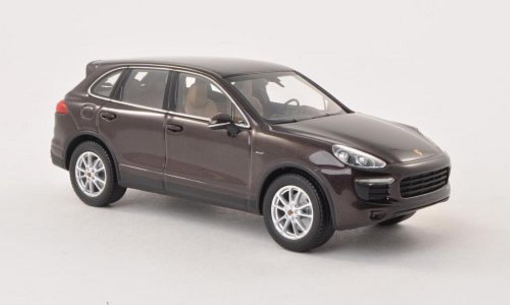 Porsche Cayenne 1/43 Minichamps Diesel (92A) marron 2014 miniature