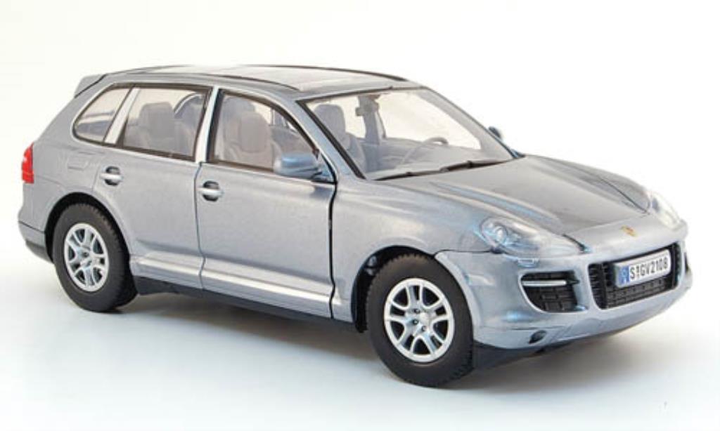 Porsche Cayenne 1/24 Motormax grise mit Glasdach miniature