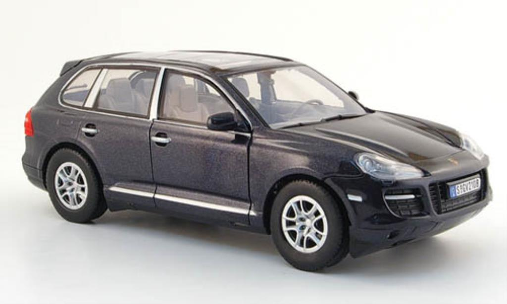 Porsche Cayenne 1/24 Motormax black mit Glasdach diecast